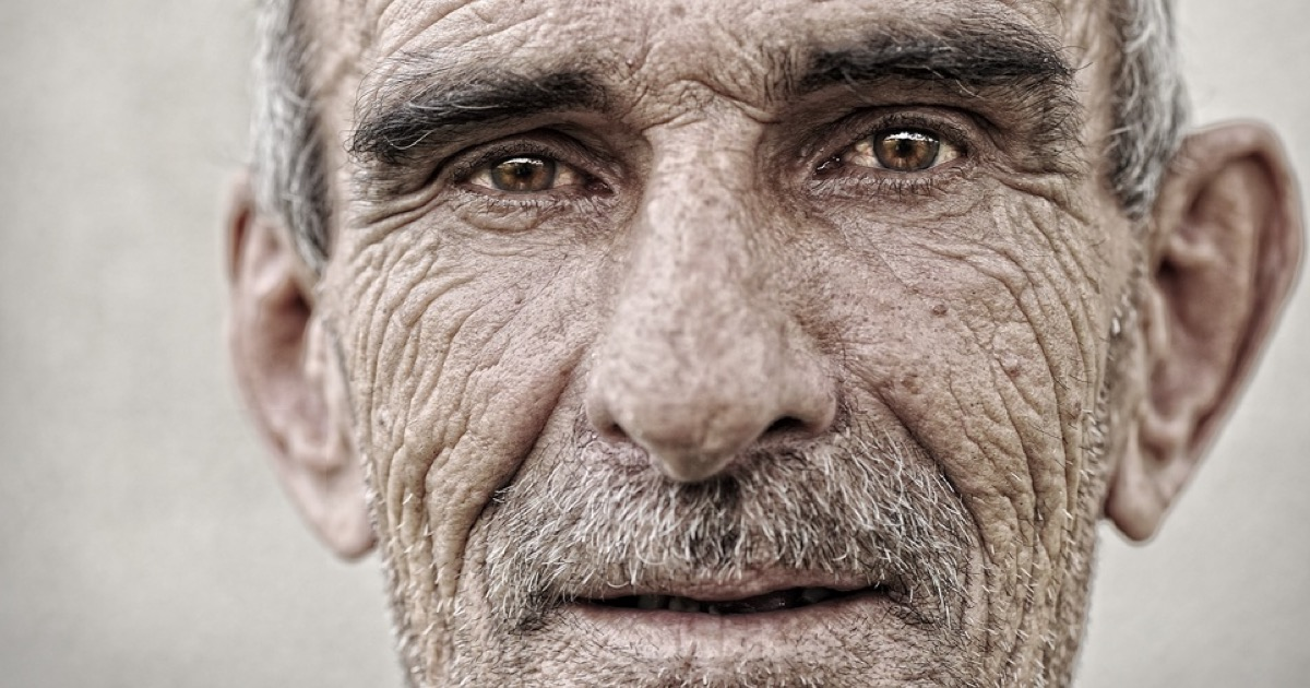 Elderly, old, mature man close up  portrait (1)